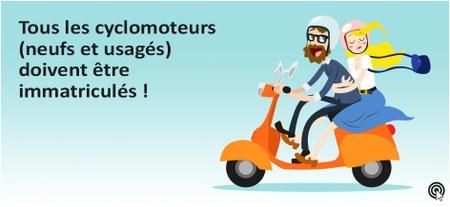 Plaques pour cyclomoteurs