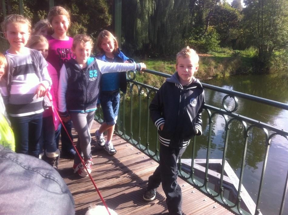 Visite au pont tournant d'Arquennes