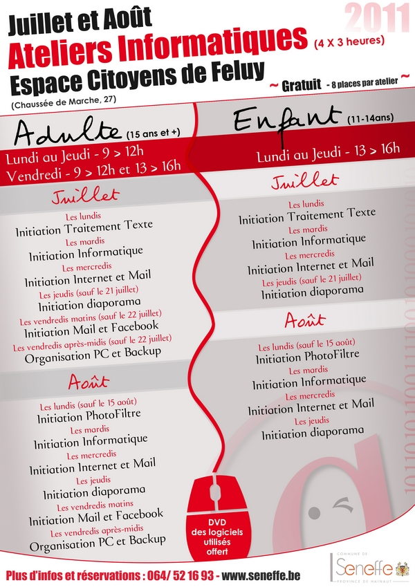 Affiche ateliers 2011