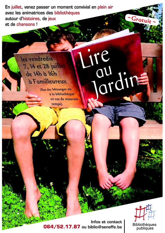 Lire au jardin 2017